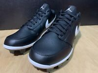 Nike Air Jordan 1 Retro MCS Low Black Baseball Cleats CJ8524-001 Men's Size 13