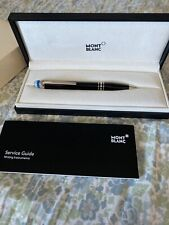 Mont Blanc StarWalker Platinum-Plated Resin Ballpoint Pen Blue Cap