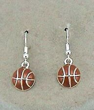 Dangle Basketball Earrings with lever back - Basketball is .5 inch diameter