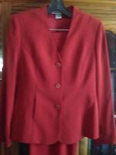 Alfani Career 2Pc Fire Engine Red Pant Suit Size 4 Top, Size 8 Pants