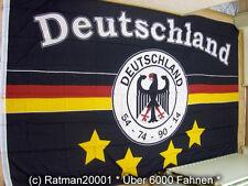 Fahnen Flagge Deutschland Schwarz 4 Sterne Fan - 2 - 150 x 250 cm