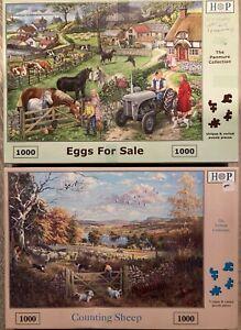 HOP Deluxe:  2 x 1000-Piece Jigsaw Puzzles  Please See Description