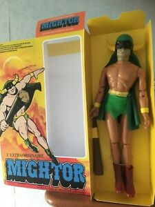 Mego figure mighty mightor vintage doll 1977 authentic!!very hard to find !!!