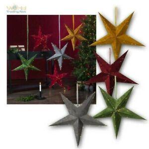 Weihnachts-Stern Ø 60cm, Filz-Papier LED Draht-Lichterkette Illuminé & Minuteur