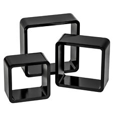 3 Estanterias foltantes cubos de pared muro forma estante retro librero negro