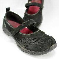 Merrell Mary Jane Flats Womens Size 7.5M Black Suede Loafers Moccasins Slip-Ons