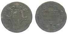 *TRIU* PIO IX - ROMA  1/2 BAIOCCO 1849 ANNO IIII RAME