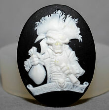 Jolly roger pirate cameo silicone moule cupcake pate fimo résine fimo moule