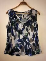 Ladies Fenn Wright Manson Top 100% Silk Size 12 Floral Sleeveless