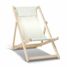 Artiss Fodable Beach Sling Chair - WOOD-B-BC-6021T-BG (Sand)