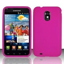 US Cellular Samsung Galaxy S II 2 Rubber SILICONE Skin Gel Case Cover Hot Pink