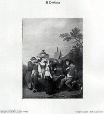 DENTISTA DEL 1600, di Bega Cornelis. Odontoiatria.Dentiste.Dentist.Zahnarzt.1929