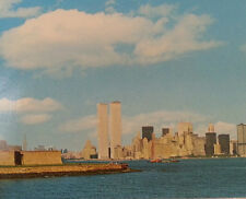 World Trade Center Statue of Liberty New York City Postcard Twin Towers