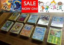 30 Pokemon Cards Bulk Lot - Guaranteed +3 Rare & Holo No Duplicates Value Gift!