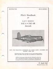 1947 VOUGHT F4U-4/F4U-4B CORSAIR PILOTS FLIGHT MANUAL AIRCRAFT HANDBOOK