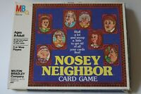 Vintage 1981 Nosey Neighbor Card Game Board Game MB Milton Bradley