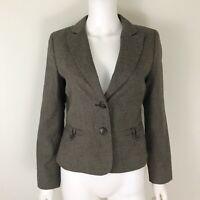 Ann Taylor Women's Size 6 Petite Blazer Brown Lined