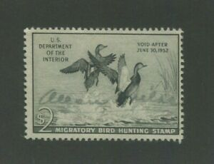 1951 US Federal Hunting Permit Duck Stamp #RW51 Used F/VF Faded Signature