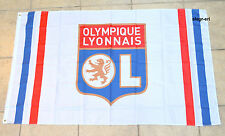 Olympique Lyon Flag Banner 3x5 ft White Lyonnais France Football Soccer