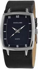 Excellanc Herrenuhr Zifferblattfarbe Dunkelblau Band Schwarz Armbanduhr  SE530