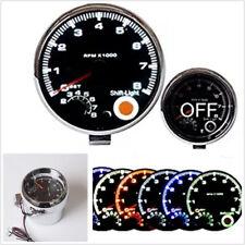 """3.75"""" 95mm Car Truck 7 LED Color Digital Tachometer Adjustable 0-8000 RPM DC12V"""