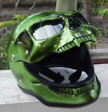 Motorcycle Helmet Skull Green Goblin MONSTER Ghost Visor Halloween Full Face