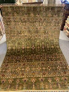 6X8 FT Very Rare Handmade HAZARA Tribal Shirvan Design high quality 100%wool rug