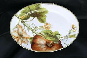 "Williams Sonoma Botanical Pumpkin Platter Large 19.5"""