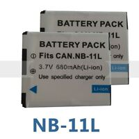2X NB-11Lh Battery For Canon IXUS 170 160 165 155 157 150 320 265 HS SX400 iS