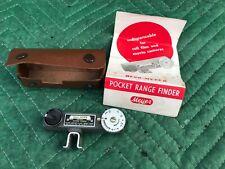 Vintage Hugo Meyer Metal Pocket Range Finder Shoe Mount Unit w/ Case