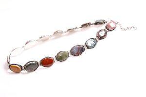 Fantastic Medieval Style Ladies Metal Waist Belt w Multicolored Gemstones (S439)