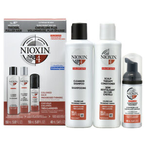 """Nioxin System No.4 """"Trial"""" Kit For colored hair with progressed thinning w/Free"""