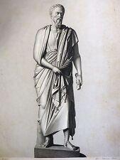 Personnage grec, Sextus de Chéronée - Gravure Schultze, dessin Granger STUTTGART