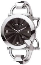 Gucci YA122507 Chiodo Diamond Black Dial 122.5 Series Watch $1,295