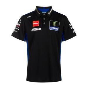 Official 2021 Yamaha MotoGP Team Factory Racing Black Men's Polo Shirt