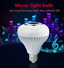 RGB Music Play Lamp Light Speaker Remote LED Bulb 12W Smart Bluetooth Wireless