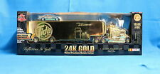 Ricky Rudd NASCAR 24K Gold Plated 1:64 Die Cast Transporter & Stock Car Tide NIB