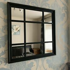 WINDOW STYLE  Square SOHO  MIRROR  61 Cm X 61 Cm. In Black. Brand New In Box.