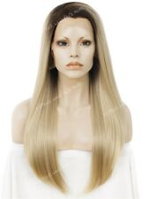 """Dark Brown Root Light Golden Blonde 24"""" Long
