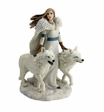 "9"" Winter Guardians Statue Gothic Fantasy Figurine Anne Stokes Sculpture Wolve"