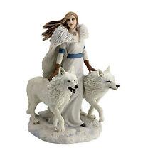 "9"" Winter Guardians Statue Gothic Fantasy Figurine Anne Stokes Sculpture Wolve"