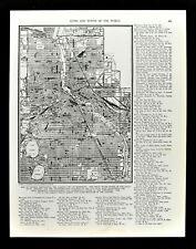 1938 Atlas Map Minneapolis City Plan Minnesota Mississippi River Downtown Parks