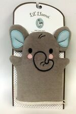 Lil' Elephant Grey Super Soft Cotton Terry Cloth Baby Bath Mitt