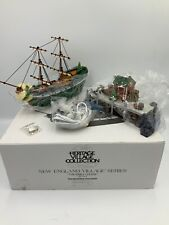 Dept 56 New England Village # 56581 The Emily Louise Ship W/Dock #024