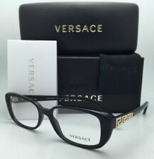 New VERSACE Eyeglasses 3178-B GB1 53-16 135 Black w/Crystals & Clear demo lenses
