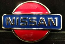 Great/Fun/Fashionable Belt Buckle Nissan Hip Car Show Logo Large Blue Red