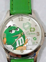 Vintage Green M&M's Promotional Watch Ladies Quartz Tested Working ~ Ships FREE