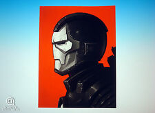 War Machine Mondo Mike Mitchell Portrait Print Iron Man Marvel Rare Giclee Proof