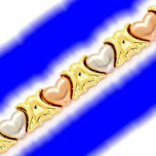 Markenloser Echtschmuck aus mehrfarbigem Gold mit Herz-Schliffform