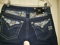 "Miss Me Cropped Skinny Denim Jeans. Size 27 Rise 7.5 Waist 30X27 Hips 37"" Stretc"
